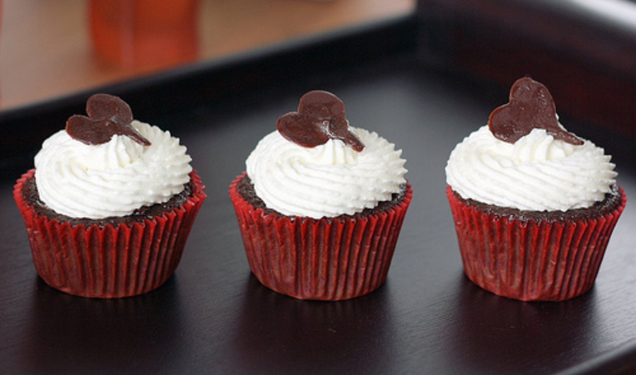 Black Forest Heart Cupcakes  on Cake Central