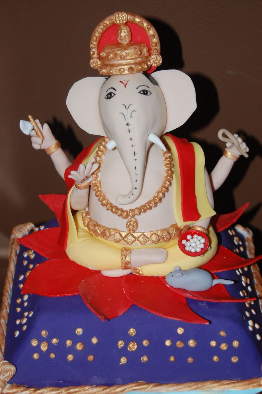 Lord Ganesh 40Th Birthday Cake - CakeCentral.com