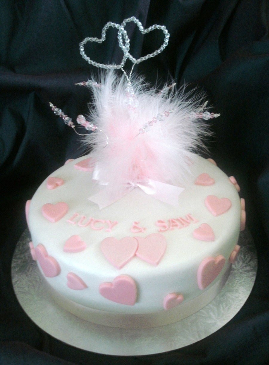 Simple 1 Tier Wedding Cake Cakecentral Com