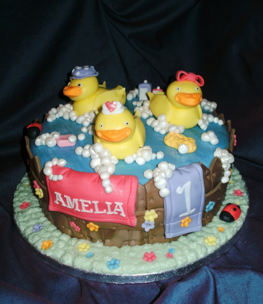 Ducks In A Tub Cake on Cake Central