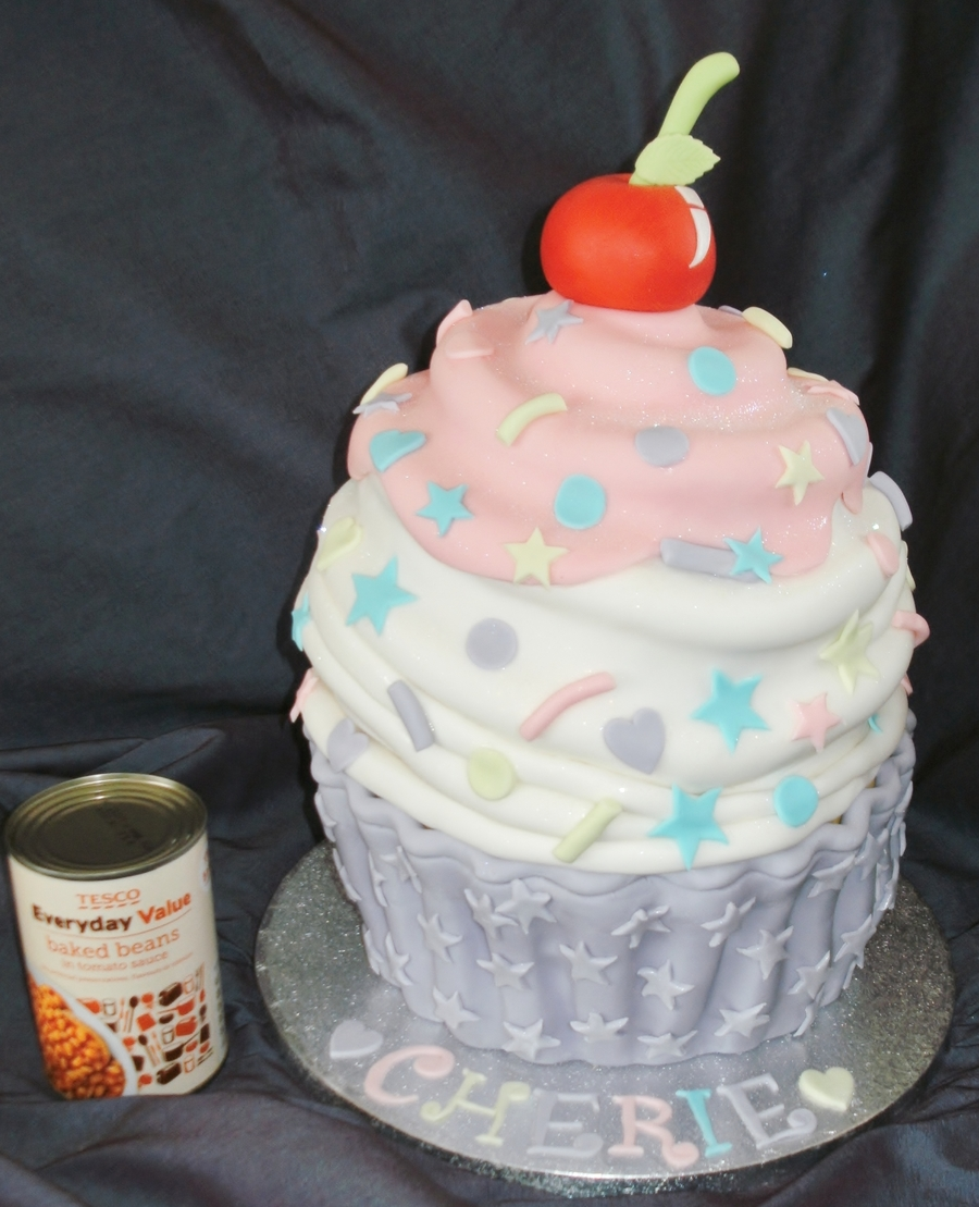 Giant Birthday Cupcake - Handcarved on Cake Central