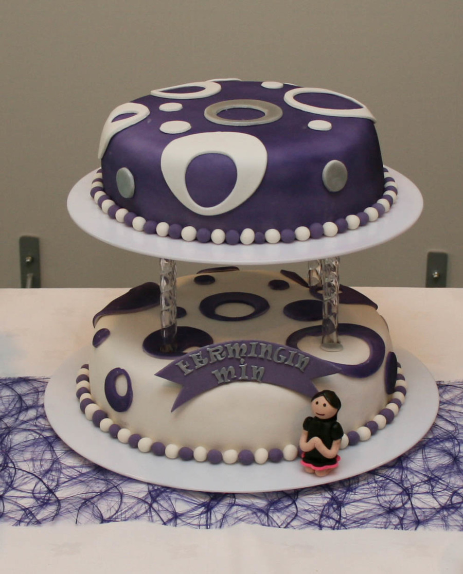 2 Tier Confirmation Cake on Cake Central