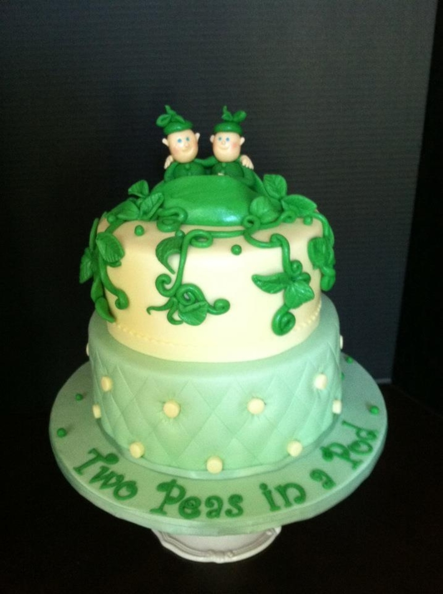 Twin Baby Shower Cake on Cake Central