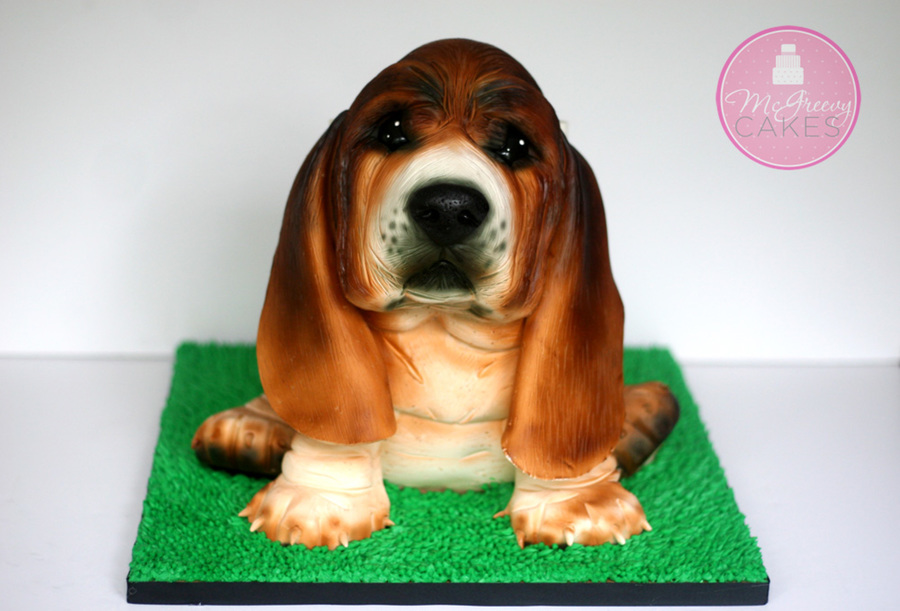 Basset Hound Puppy Cake on Cake Central