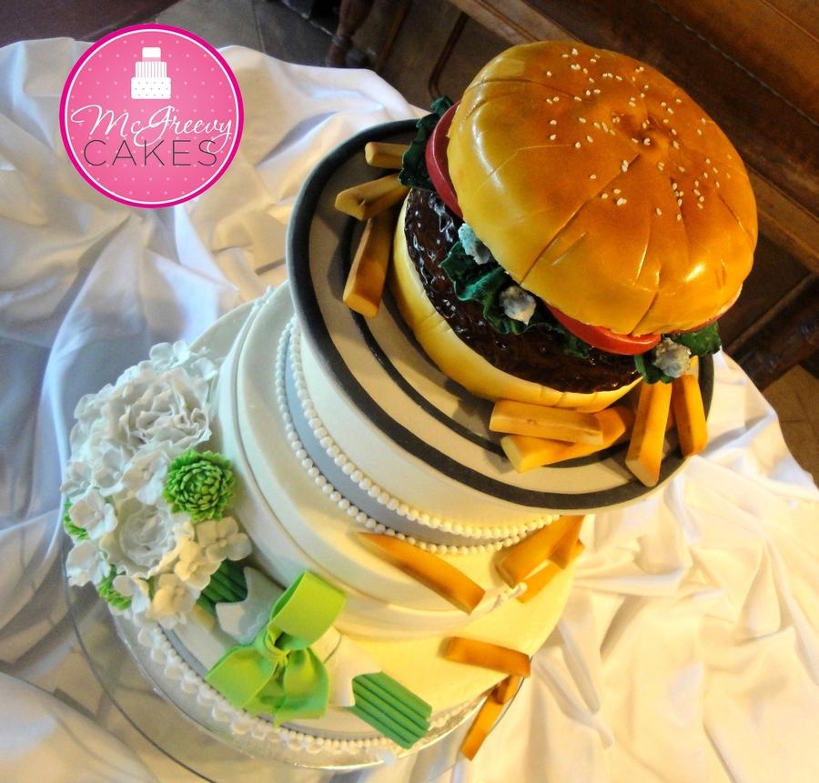 Hamburger Wedding Cake - CakeCentral.com