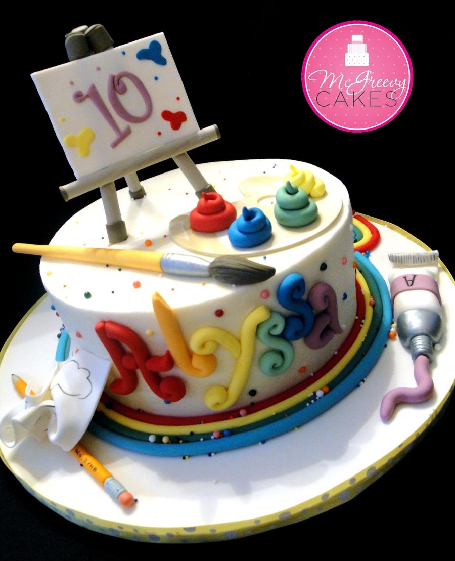 Alyssa's Artist Cake
