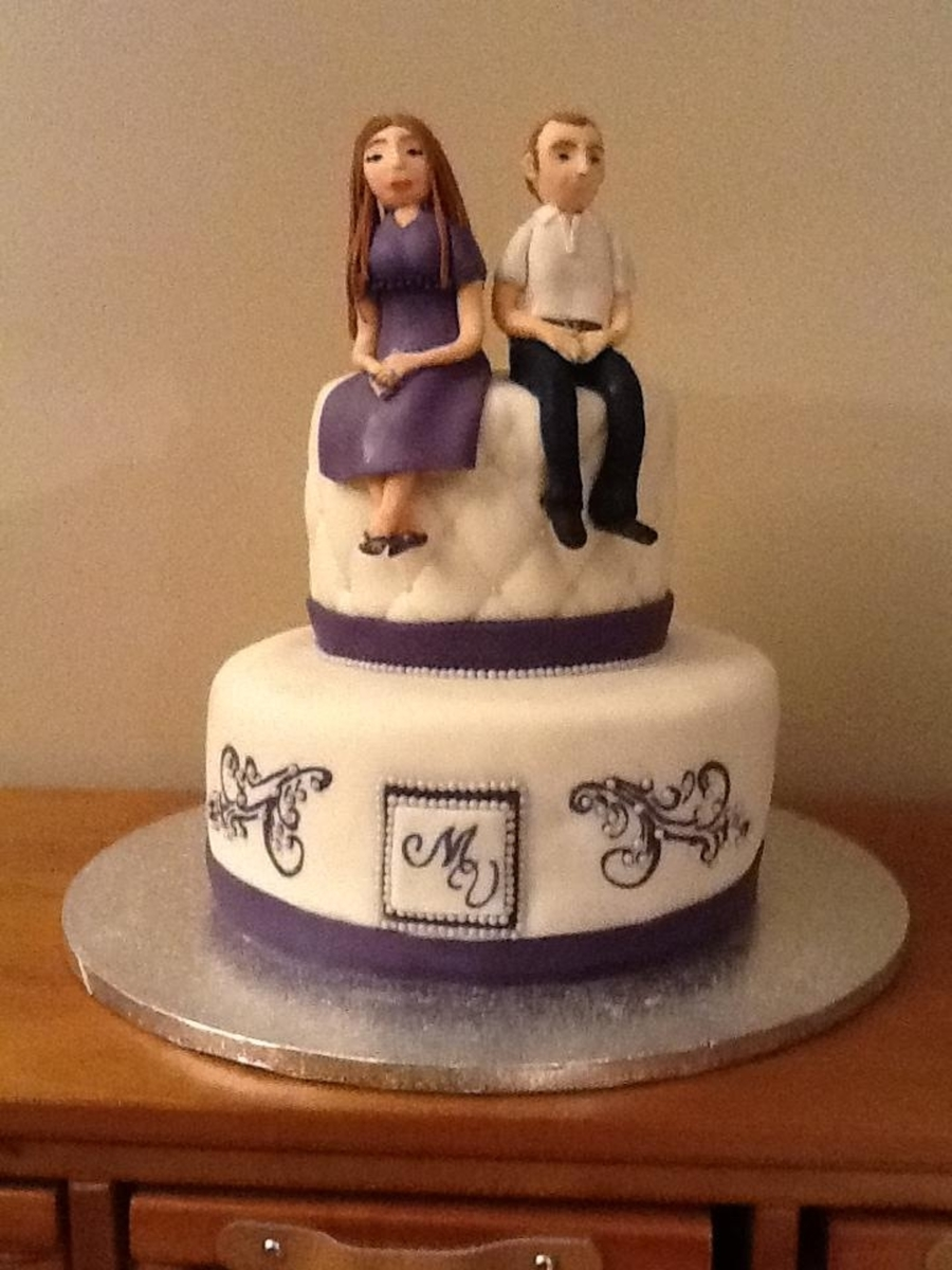 Wedding Rehearsal Cake Bride And Groom Topper On Central