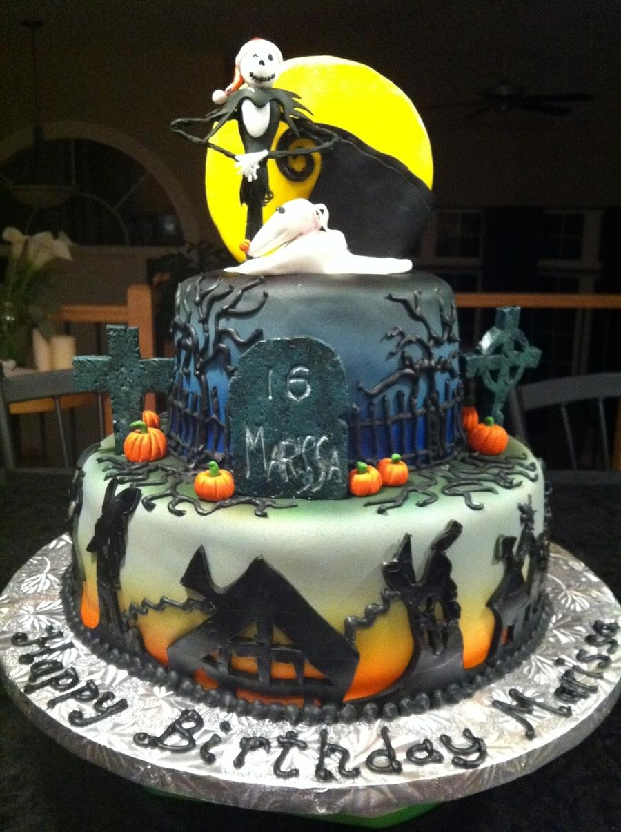 Terrific Nightmare Before Christmas Birthday Cake Cakecentral Com Funny Birthday Cards Online Elaedamsfinfo