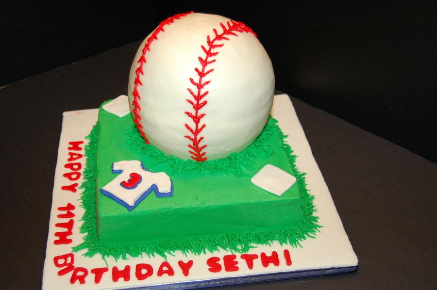 Baseball Cake Using Ball Pan CakeCentralcom