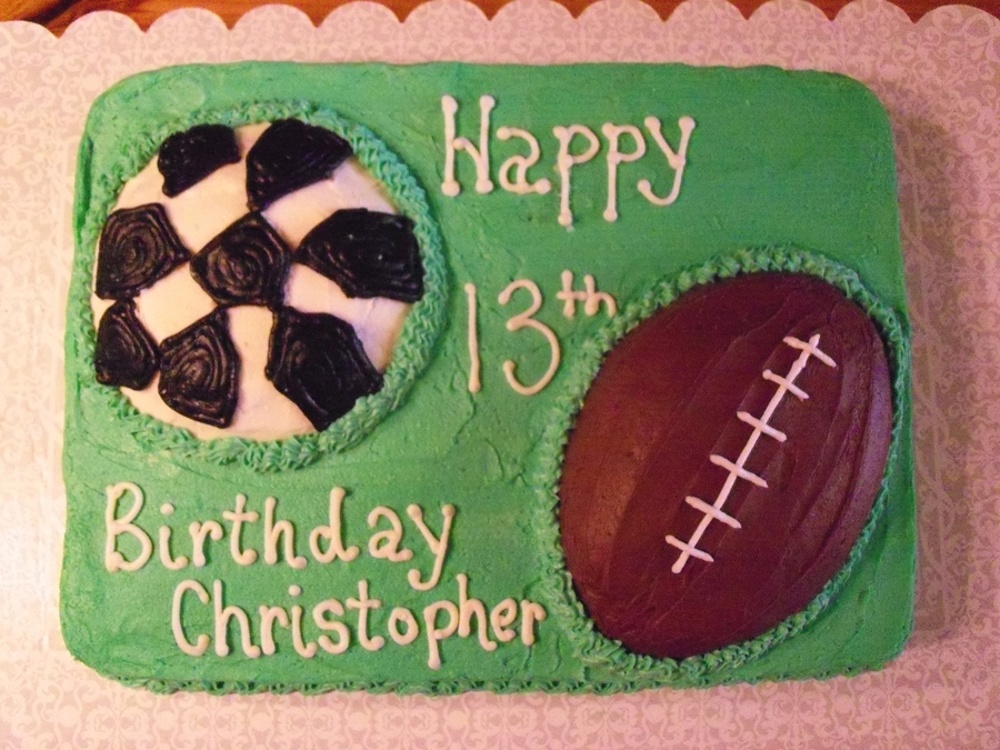 Football And Soccer Sports Cake on Cake Central