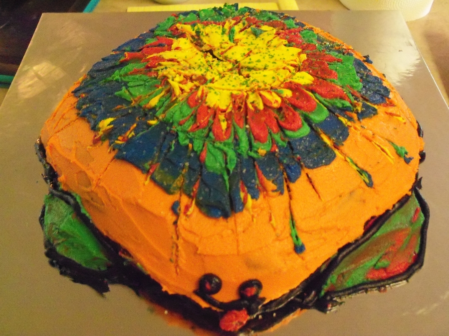 Tye-Dyed Turtle on Cake Central