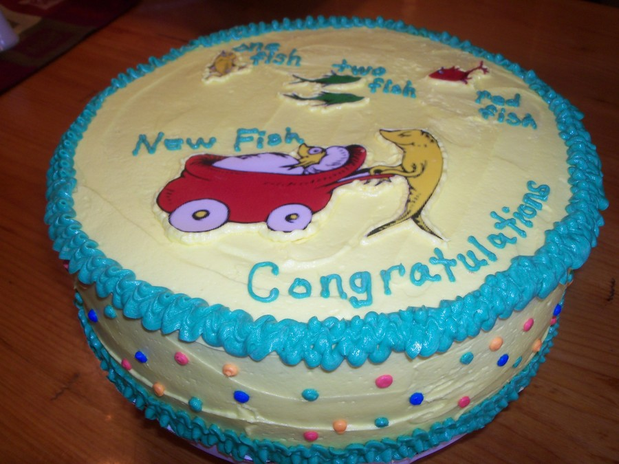 Dr Seuss One Fish Two Fish Baby Shower Cake Cakecentral