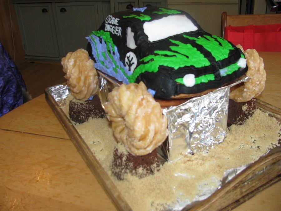 Grave Digger Monster Truck Cake Pan