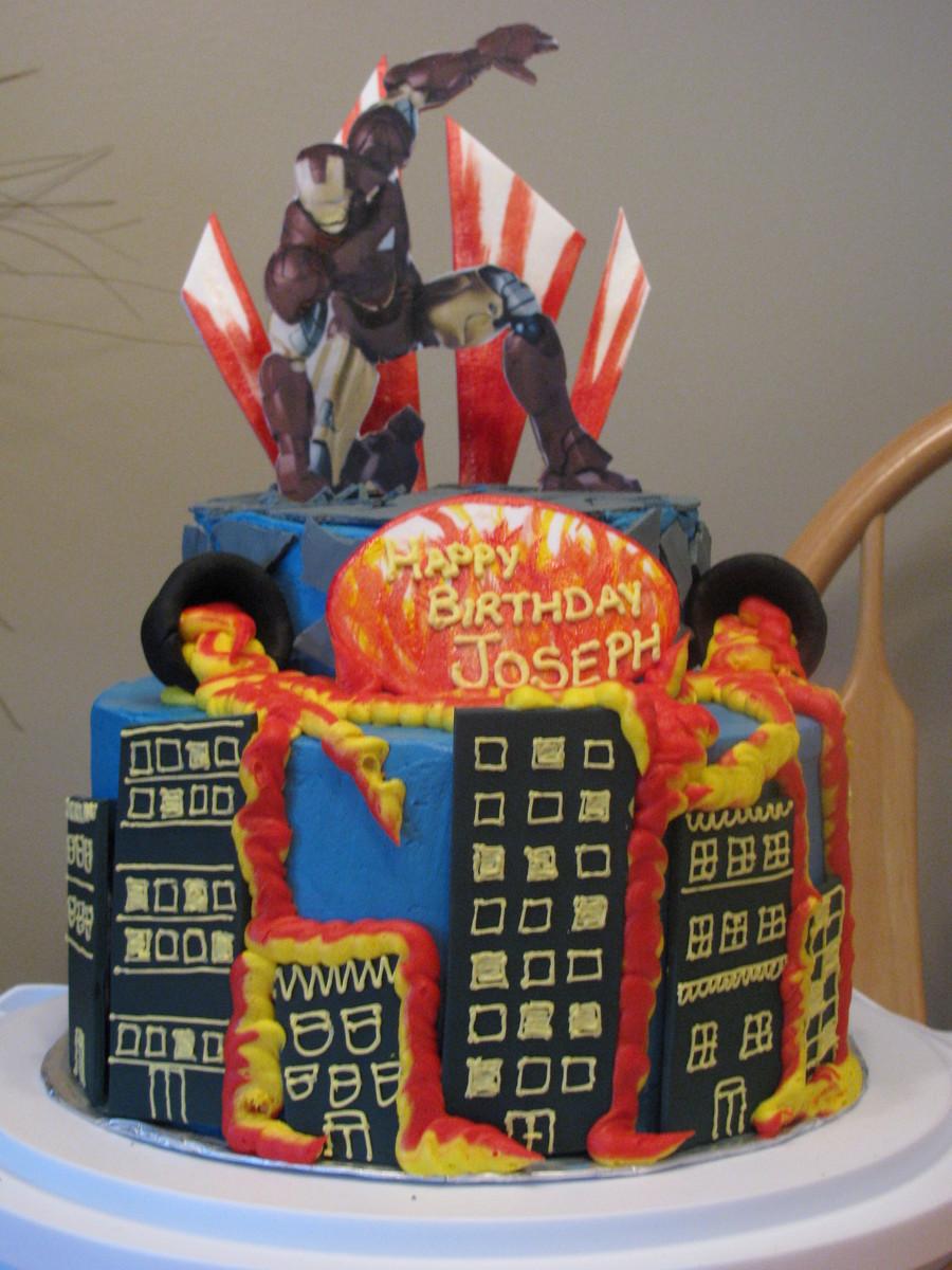 Iron Man Cake CakeCentralcom