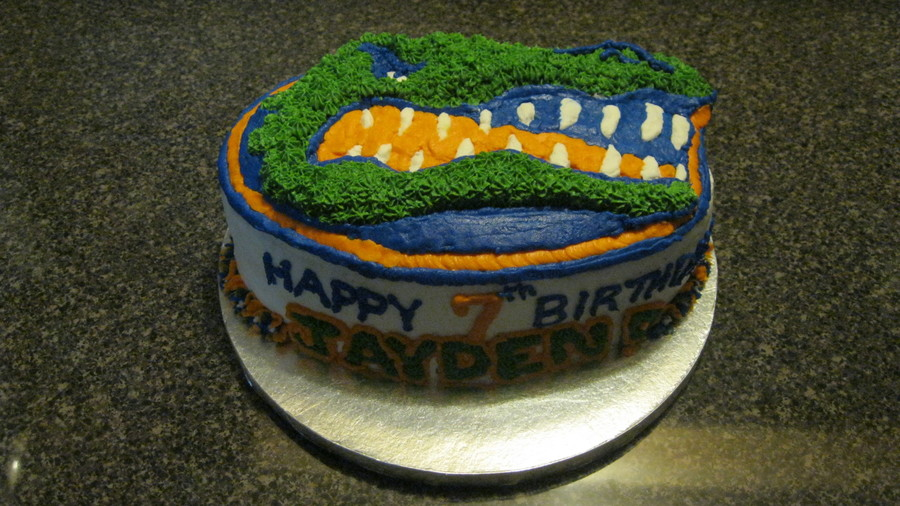 Astonishing Florida Gators Birthday Cake Cakecentral Com Personalised Birthday Cards Veneteletsinfo