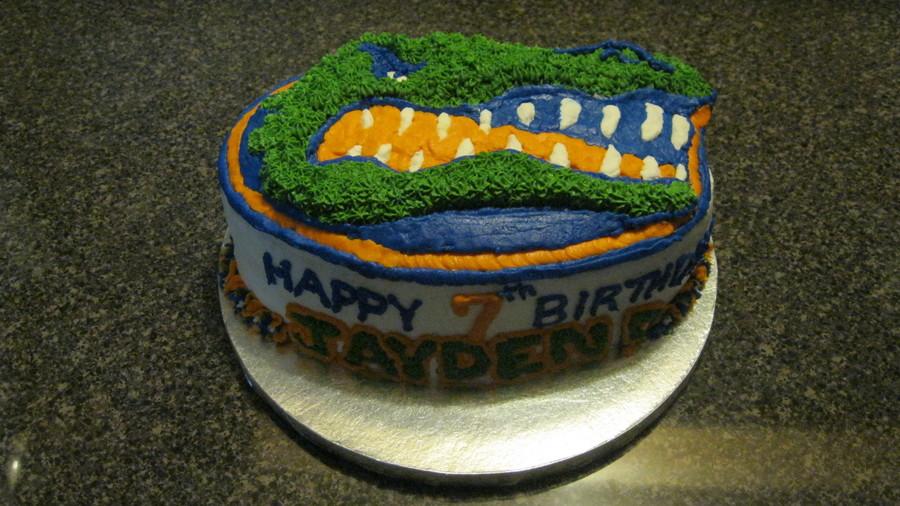 Cool Florida Gators Birthday Cake Cakecentral Com Funny Birthday Cards Online Elaedamsfinfo