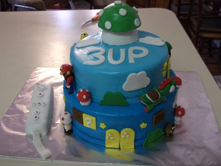 Mario Brothers Cake W/ Remote Controller on Cake Central