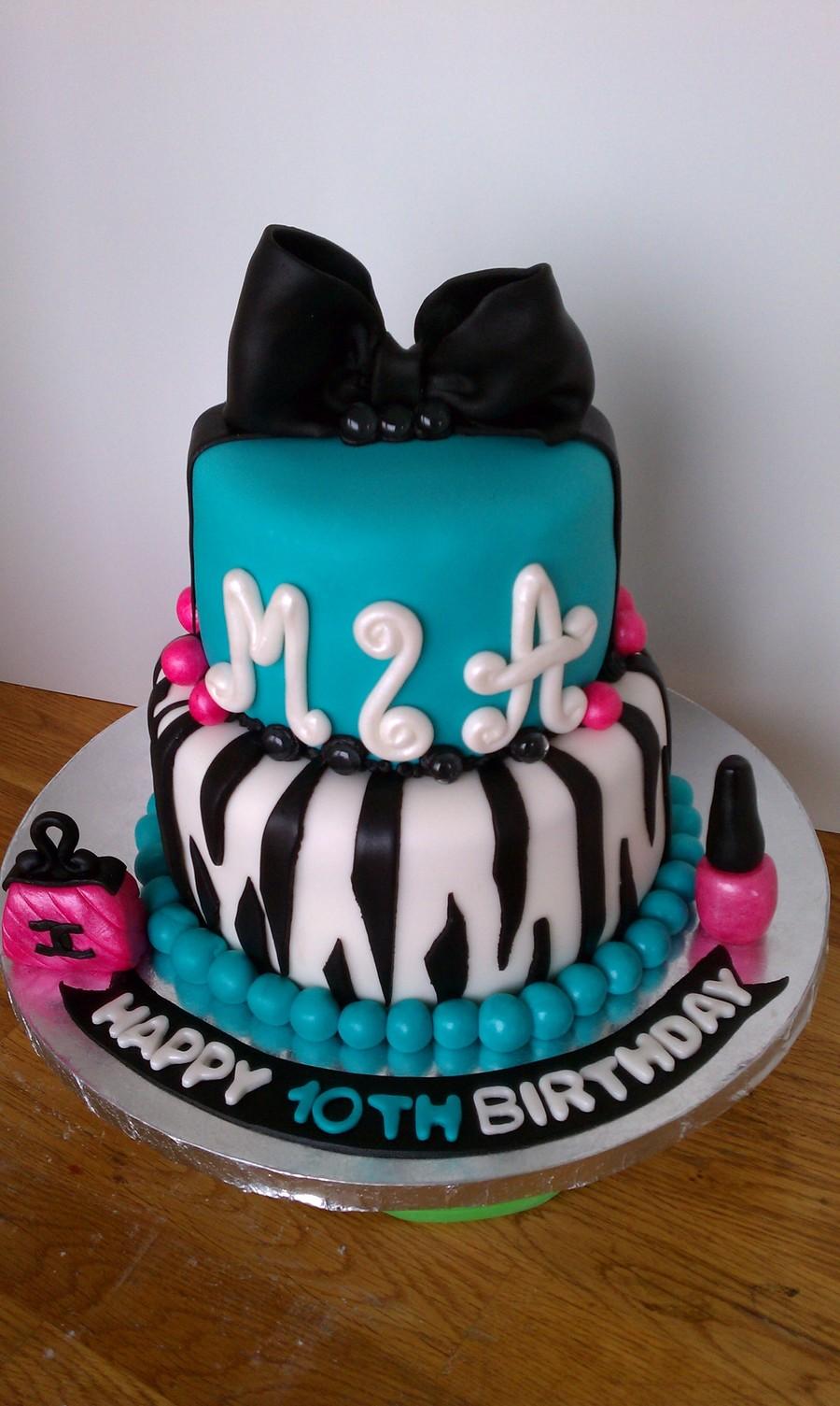 10th Birthday Cake Zebra Cakecentral