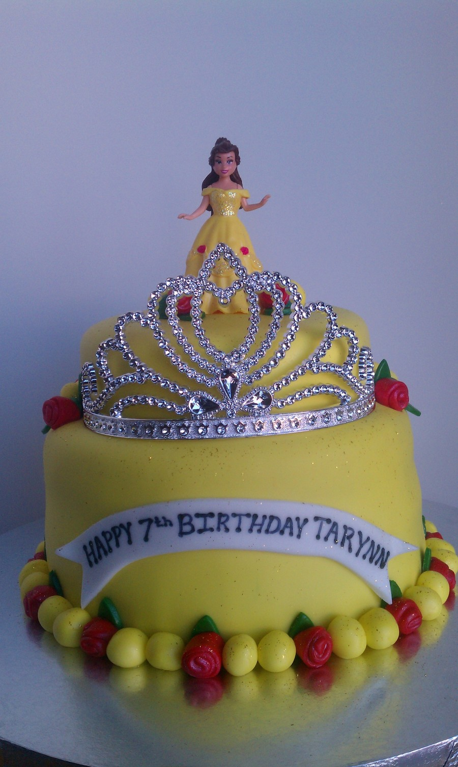 Phenomenal Belle Birthday Cake Cakecentral Com Personalised Birthday Cards Paralily Jamesorg