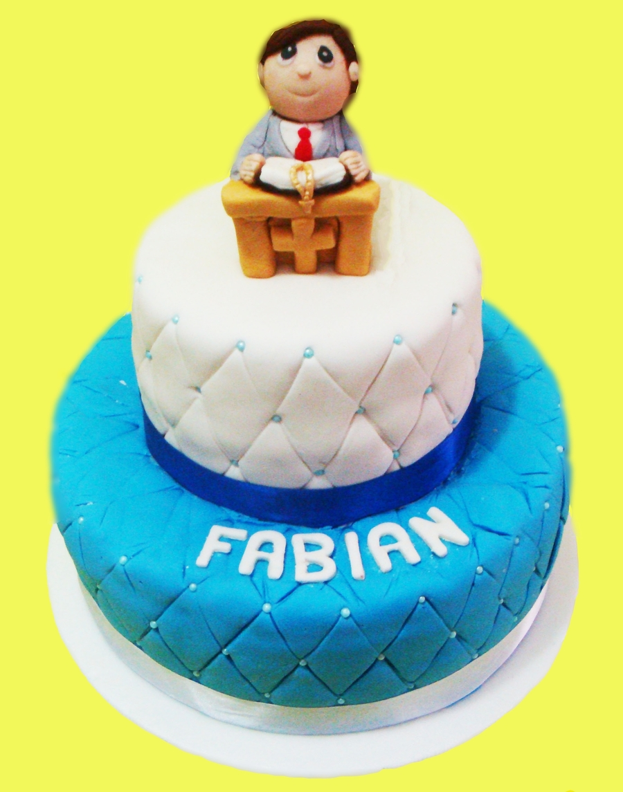 First Communion Boy Cake on Cake Central