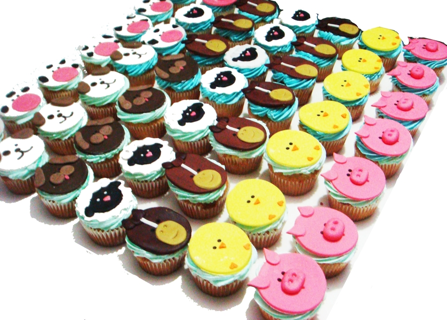 Farm Animals Cupcakes on Cake Central