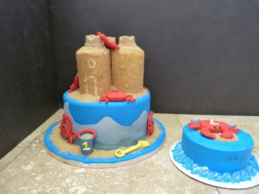 1St Birthday Sand Castle on Cake Central