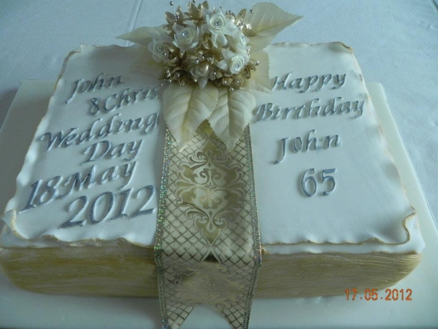 Wedding/birthday Book Cake on Cake Central