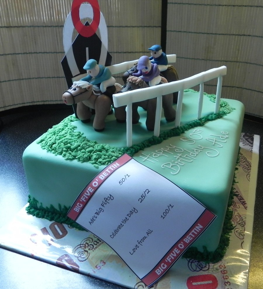 Horse Racing 50Th Birthday Cake - CakeCentral.com