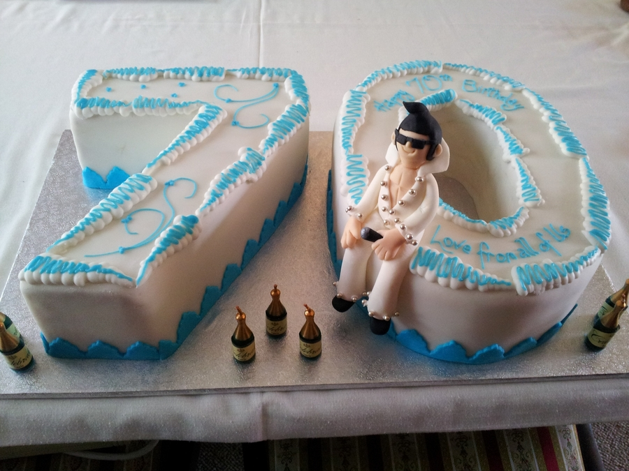Elvis 70Th Birthday Cake CakeCentralcom