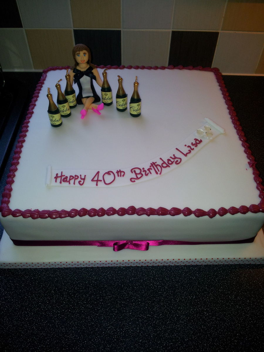 Lisa 40th Birthday Cake On Central