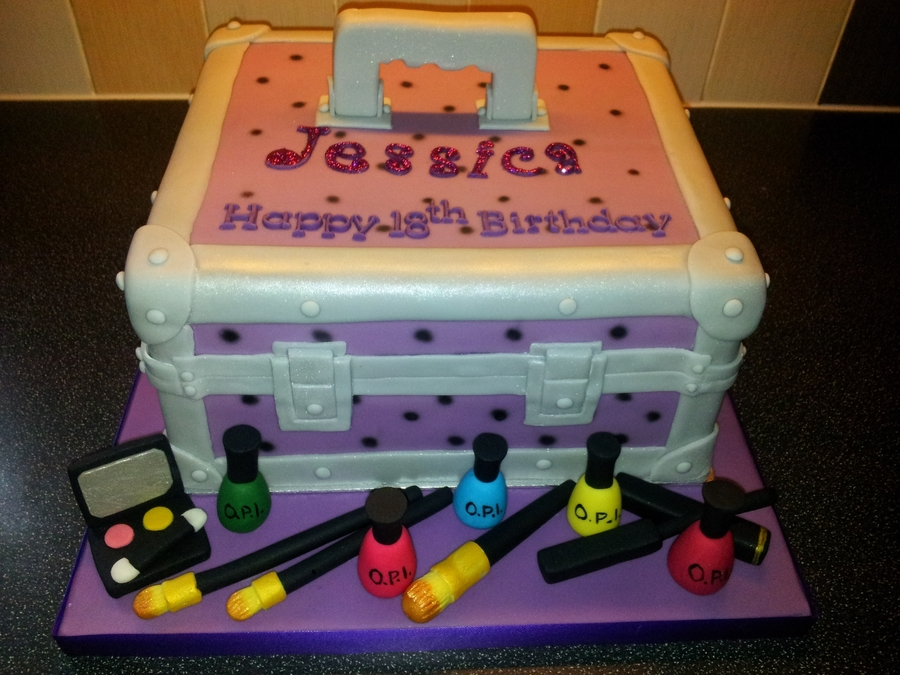 18th Birthday Make Up Box Cake Cakecentral