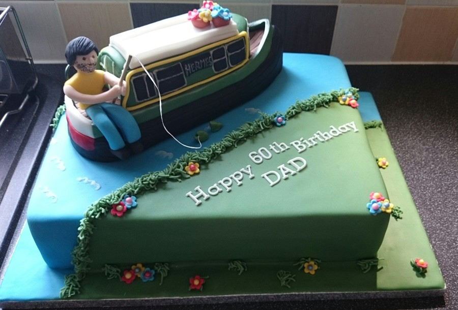 Narrowboat Cake For 60th Birthday Cakecentral Com