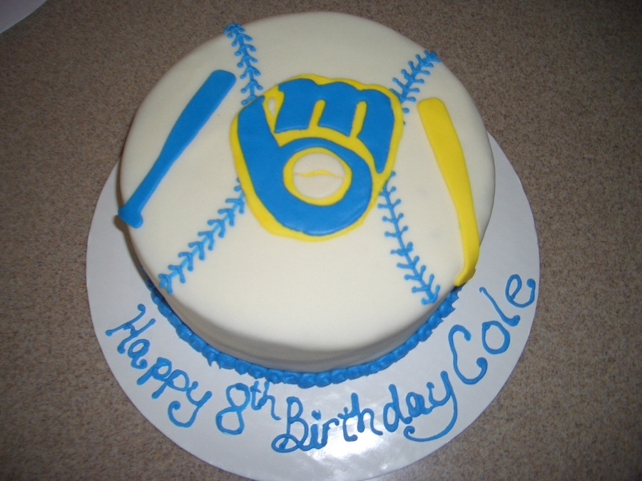 Peachy Milwaukee Brewers Birthday Cake Cakecentral Com Funny Birthday Cards Online Sheoxdamsfinfo