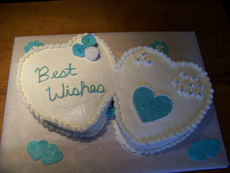 Bridal Shower Cake-- Double Hearts on Cake Central