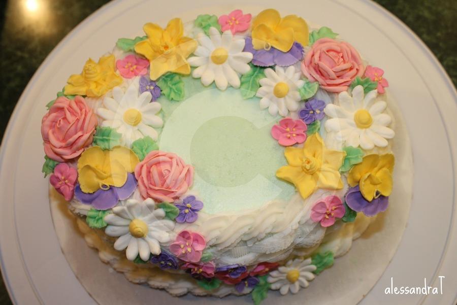 Flower Basket Cake - CakeCentral.com
