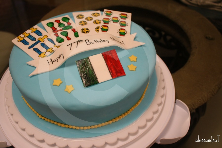 Italian Themed Birthday Cake CakeCentralcom