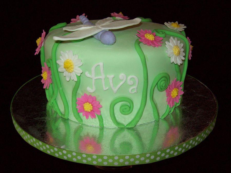 Butterfly Garden Birthday Cake CakeCentralcom