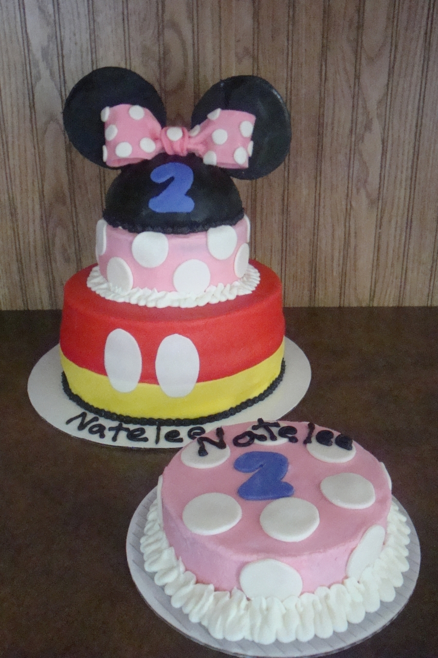 Mickey & Minnie Mouse Birthday Cake on Cake Central