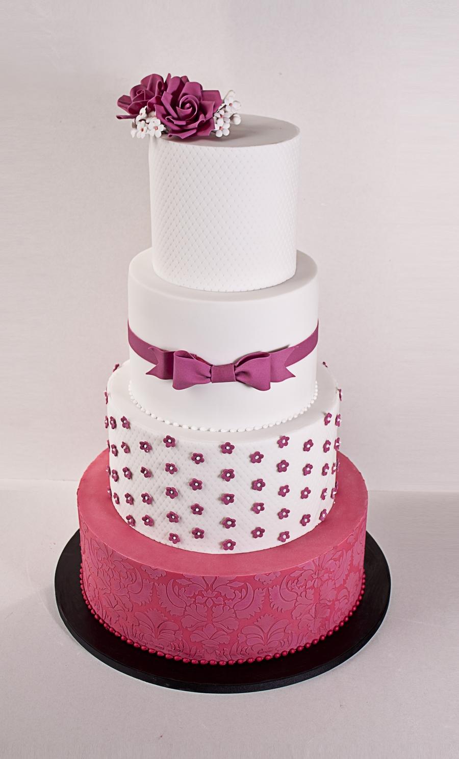 Fuschia Wedding Cake Cakecentral Com