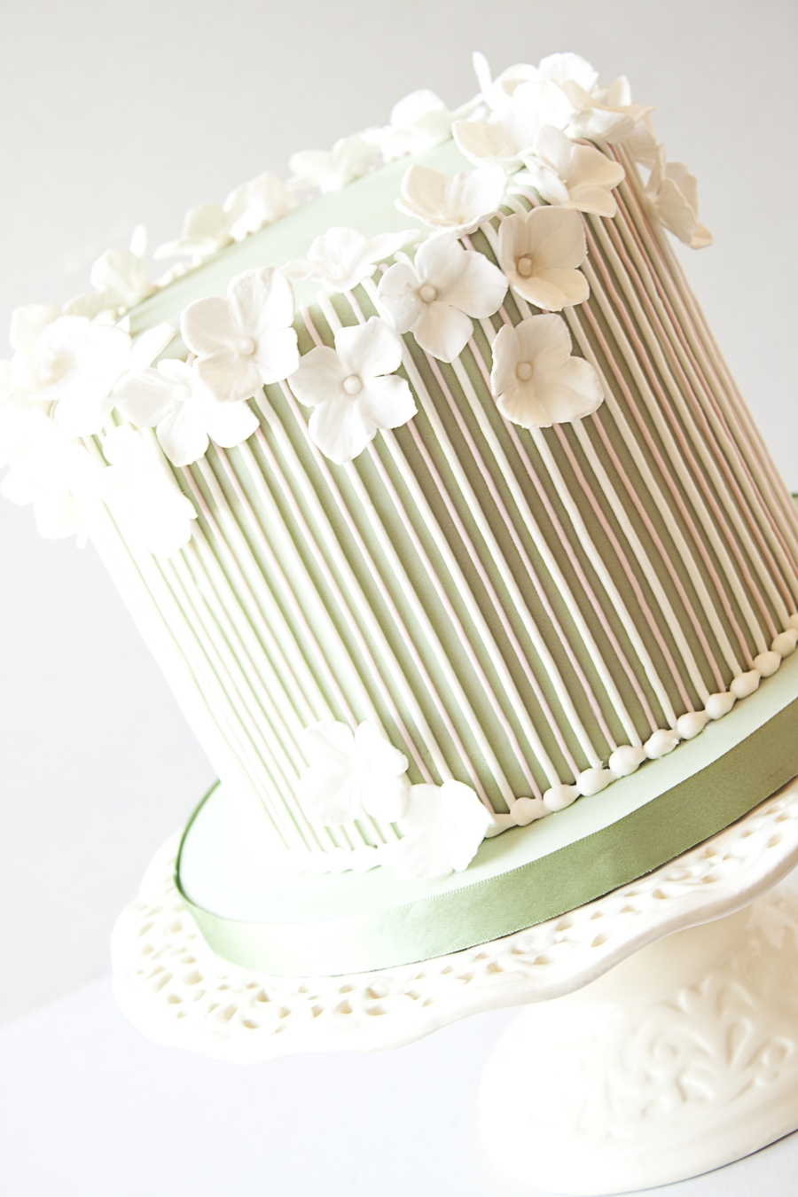 Striped Vintage Birthday Cake Cakecentral Com