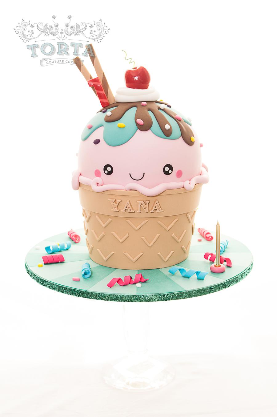 Giant Ice Cream Cake