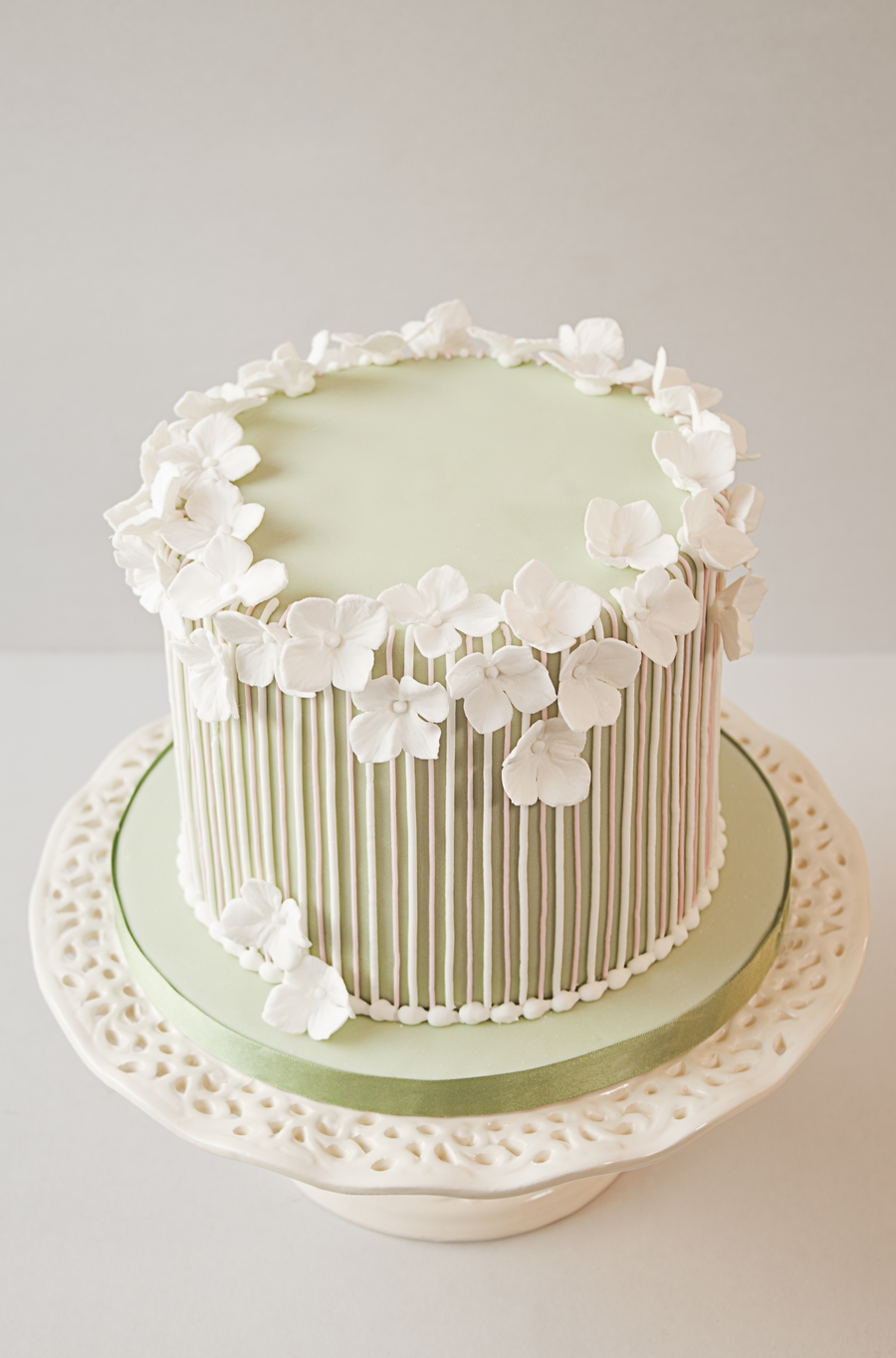 Striped Vintage Birthday Cake - CakeCentral.com