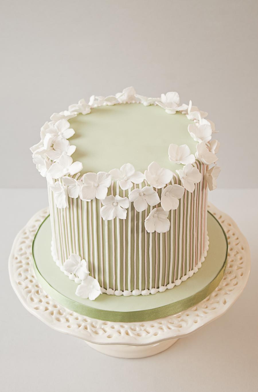 Cake Design Vintage : Striped Vintage Birthday Cake - CakeCentral.com
