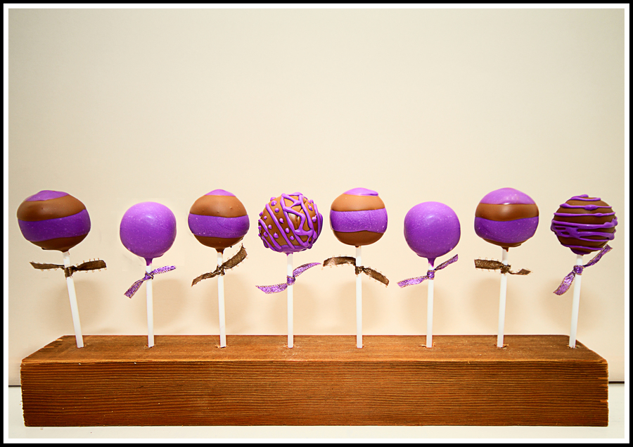 Purple & Brown Cake Pops on Cake Central