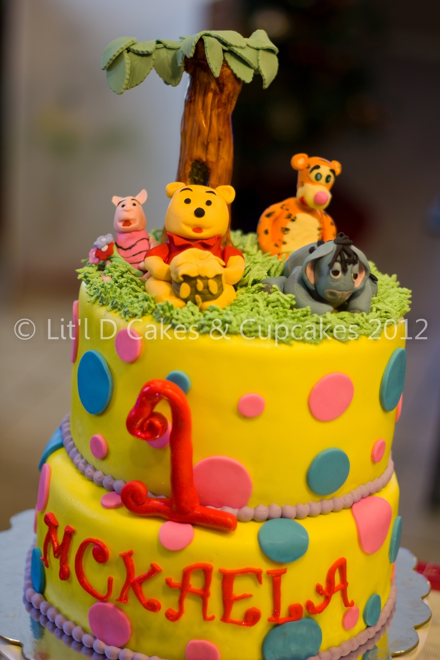 Winnie The Pooh Friends Themed Birthday Cake Cakecentral