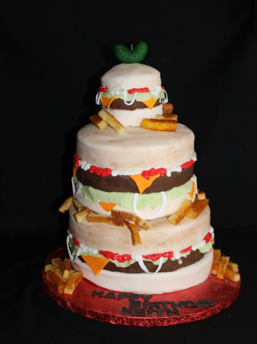 Burger Birthday Cake Cakecentral