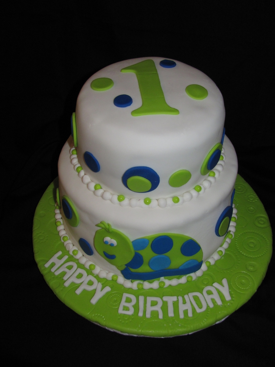 Turtle First Birthday Cake - CakeCentral.com - photo#14