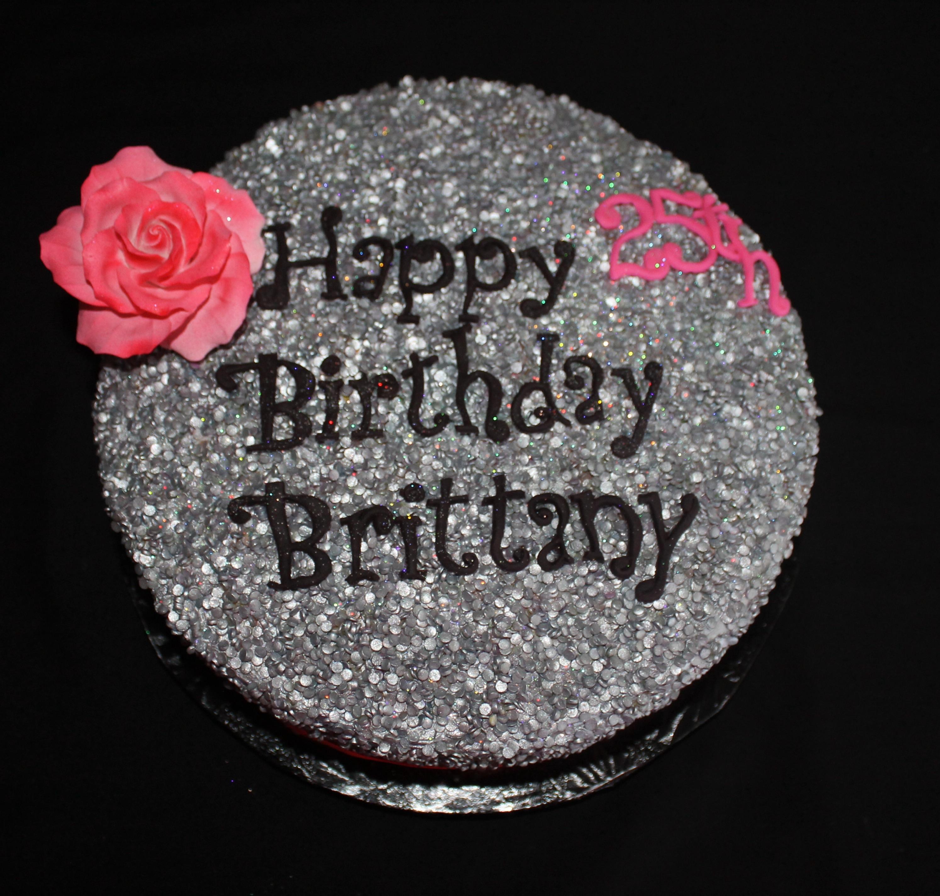 Birthday Cake Images Glitter : Glitter Birthday Cake - CakeCentral.com