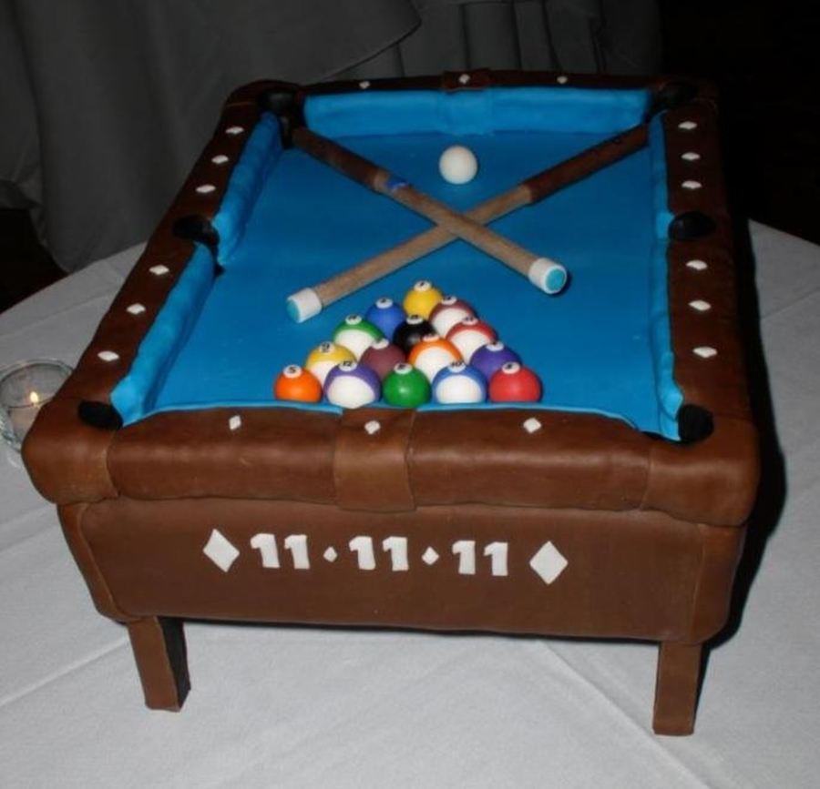 Pool Table Cake CakeCentralcom - Buy my pool table