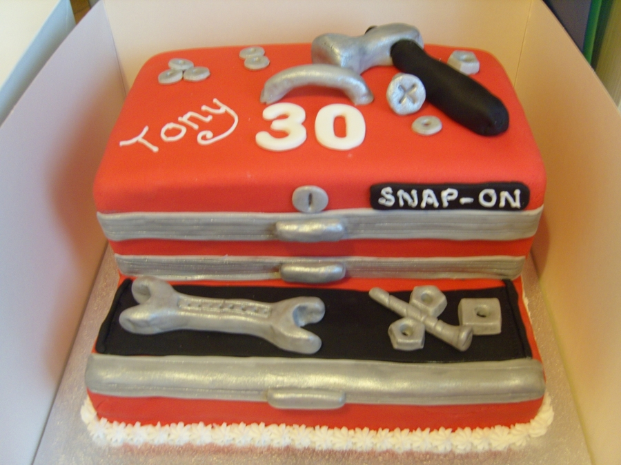 Snap On Toolbox CakeCentral Custom Cake Decorators Tool Box